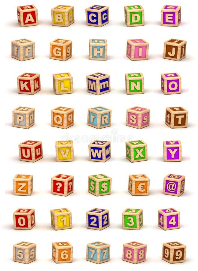 Cube Alphabet royalty free stock photos