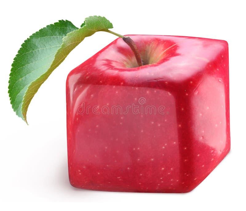 Cube apple stock photo