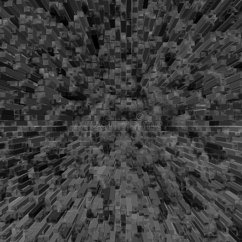 Cube background stock illustration