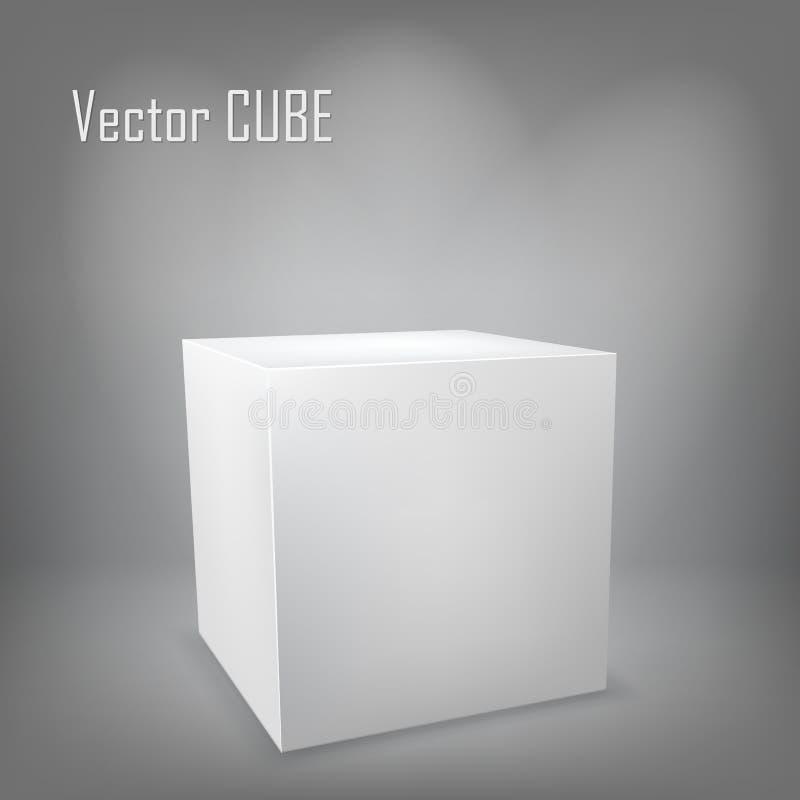 Cube blanc illustration libre de droits