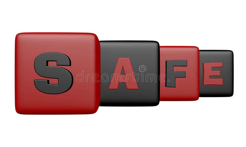 Download Cube Block Combined A Safe Word In A Row Stock Illustration - Image: 14383901