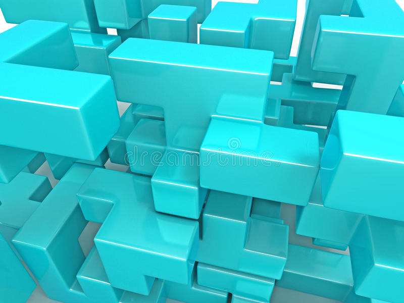 Download A Cube Built From Blocks. Puzzle Stock Illustration - Image: 14503459
