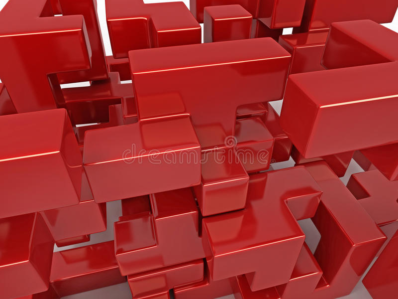 Download A Cube Built From Blocks. Puzzle Royalty Free Stock Photography - Image: 14628117