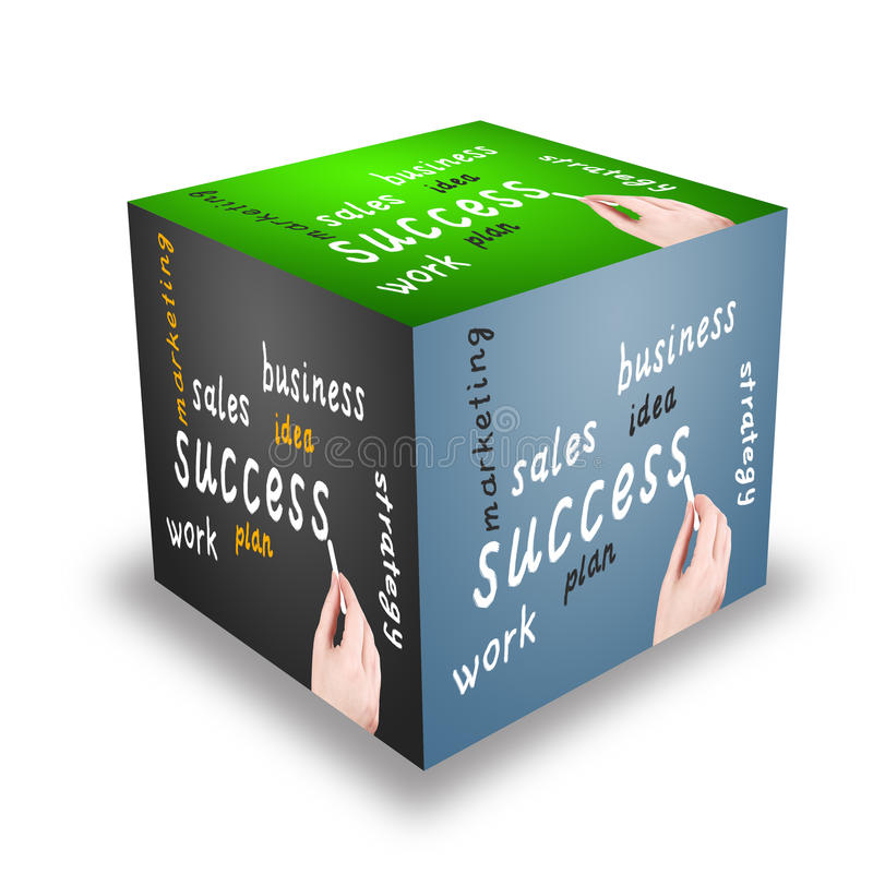 Cube. Business plan royalty free illustration