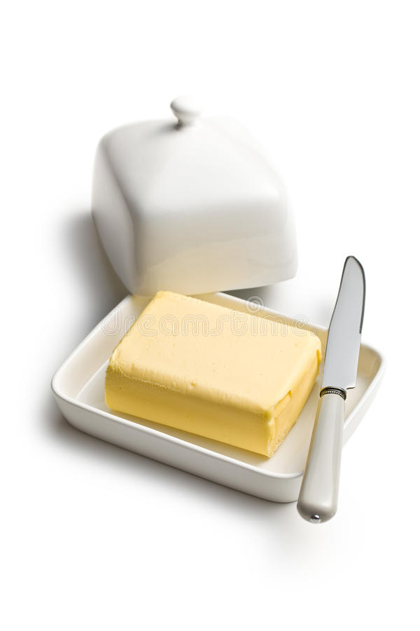 Cube of butter royalty free stock images