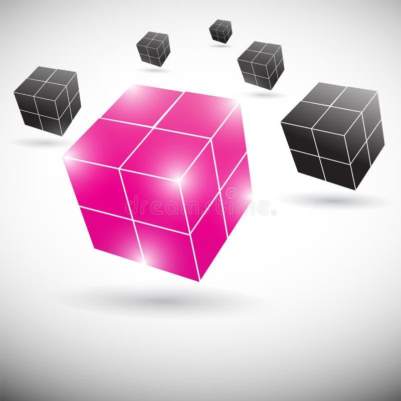 Cube concept teamwork design vector illustration