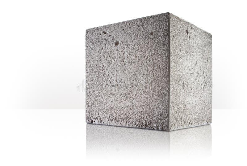 Cube concret photo libre de droits