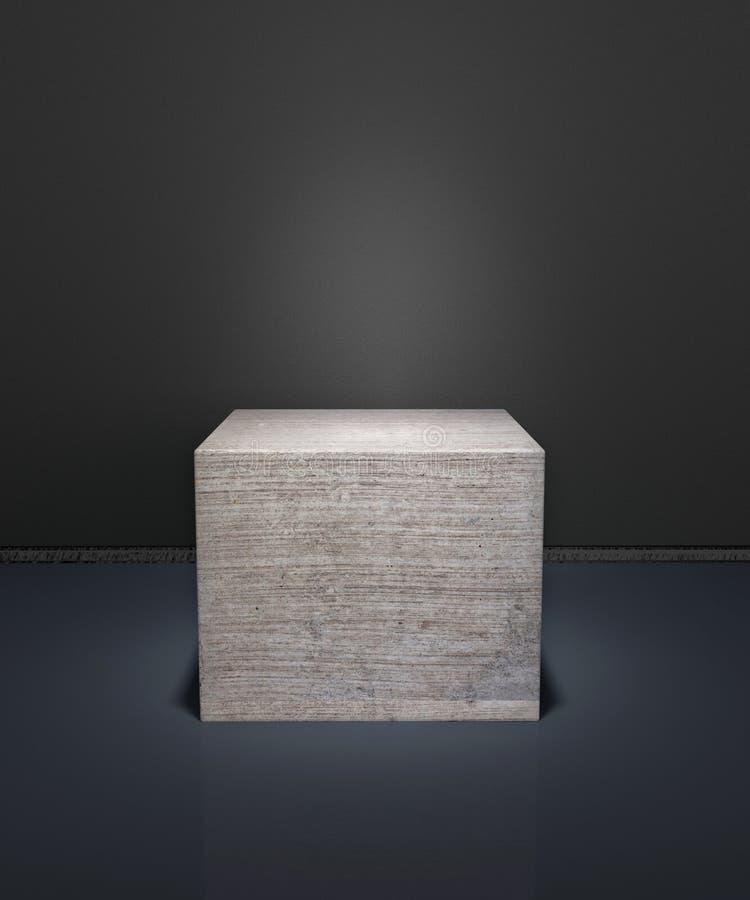 Cube concret illustration de vecteur