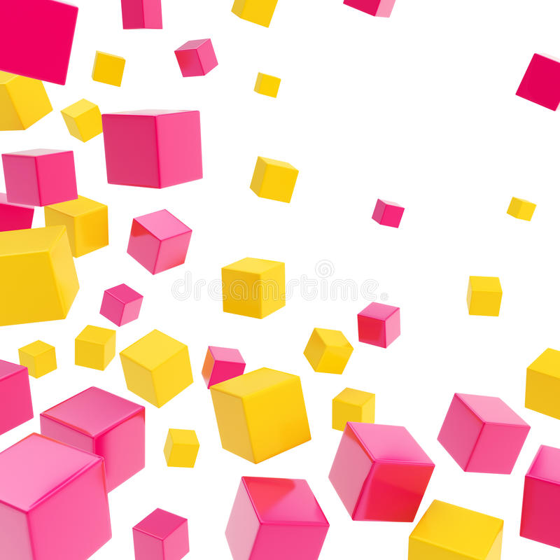 Cube copyspace composition as abstract backdrop royalty free illustration