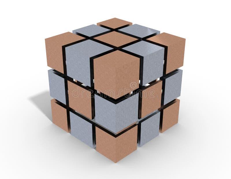 Download Cube 3d stock illustration. Image of metallic, insert - 37650983