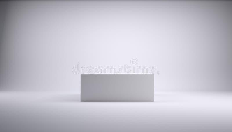 Download cube dans un studio blanc photo stock image du objet 30406570