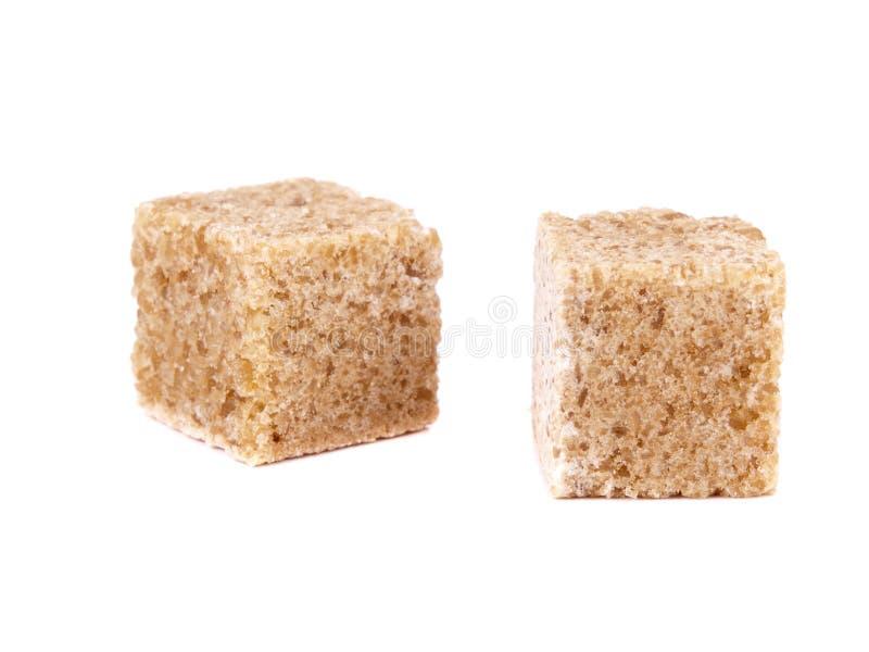 Cube deux de sucre de canne photographie stock