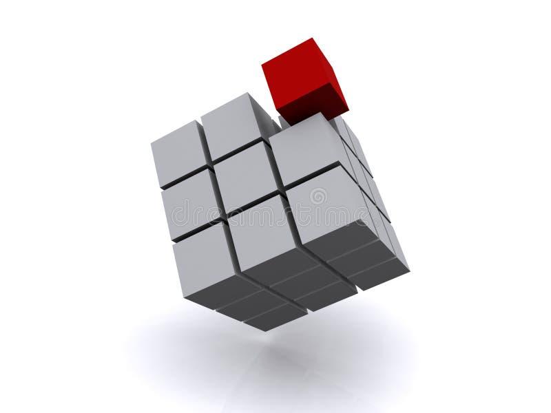 Cube différent images stock