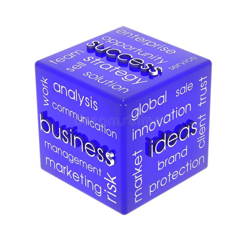 Cube en affaires image stock