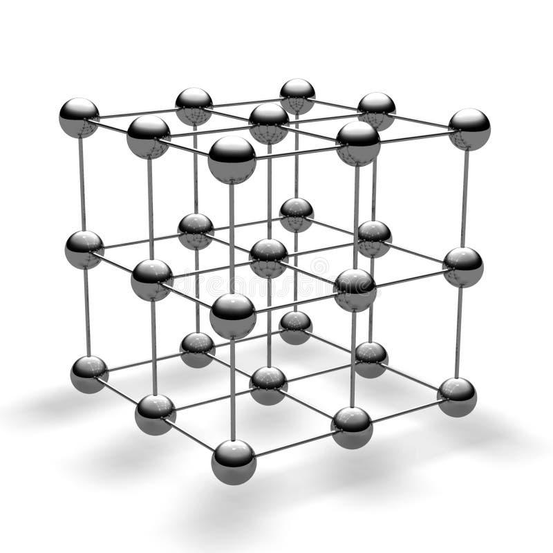 Cube en bille illustration stock
