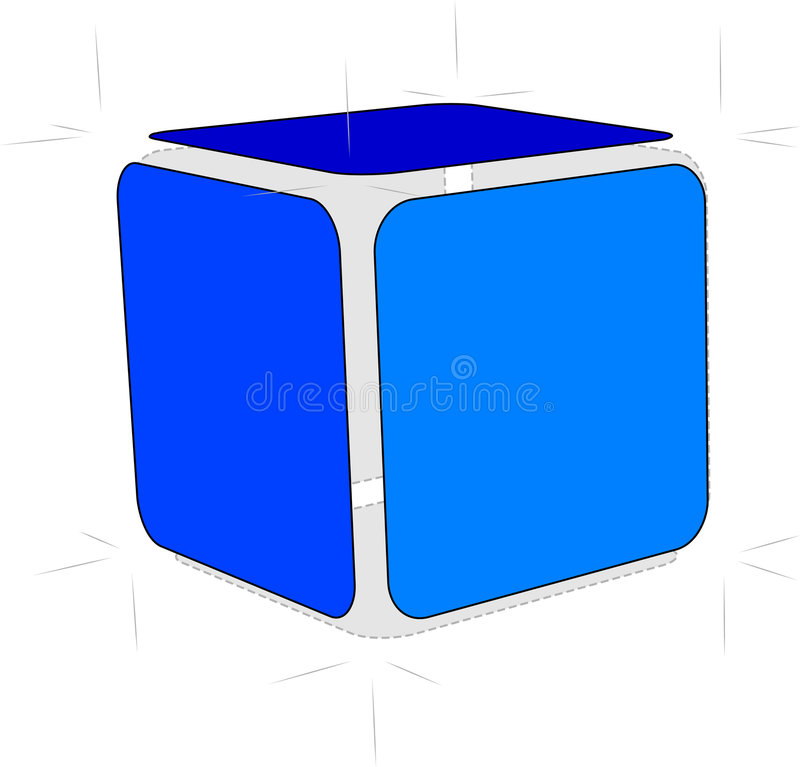Cube en croquis illustration libre de droits