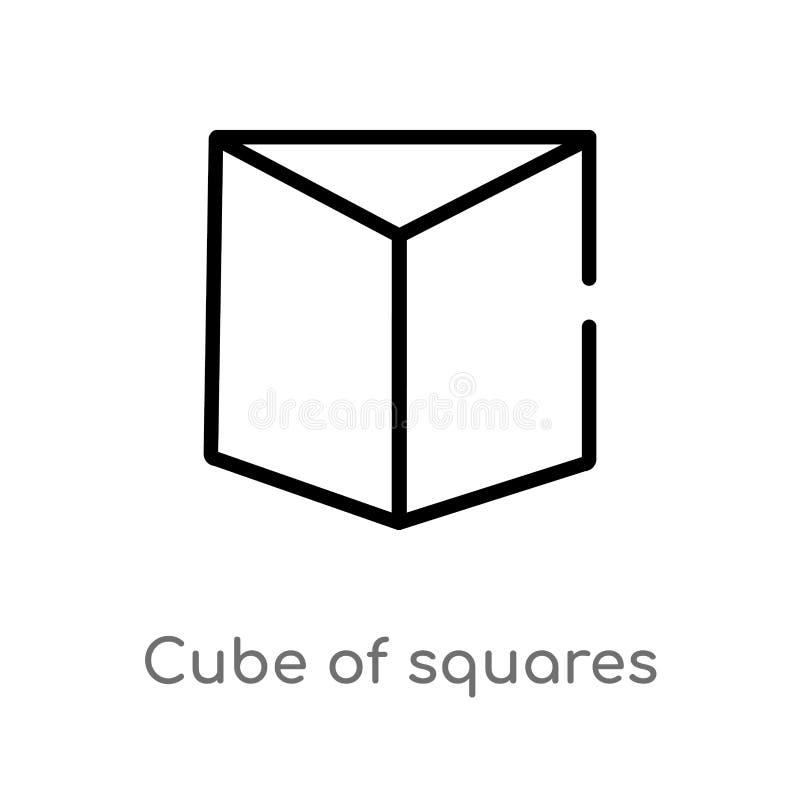 cube en ensemble d'icône de vecteur de places r Vecteur Editable illustration de vecteur