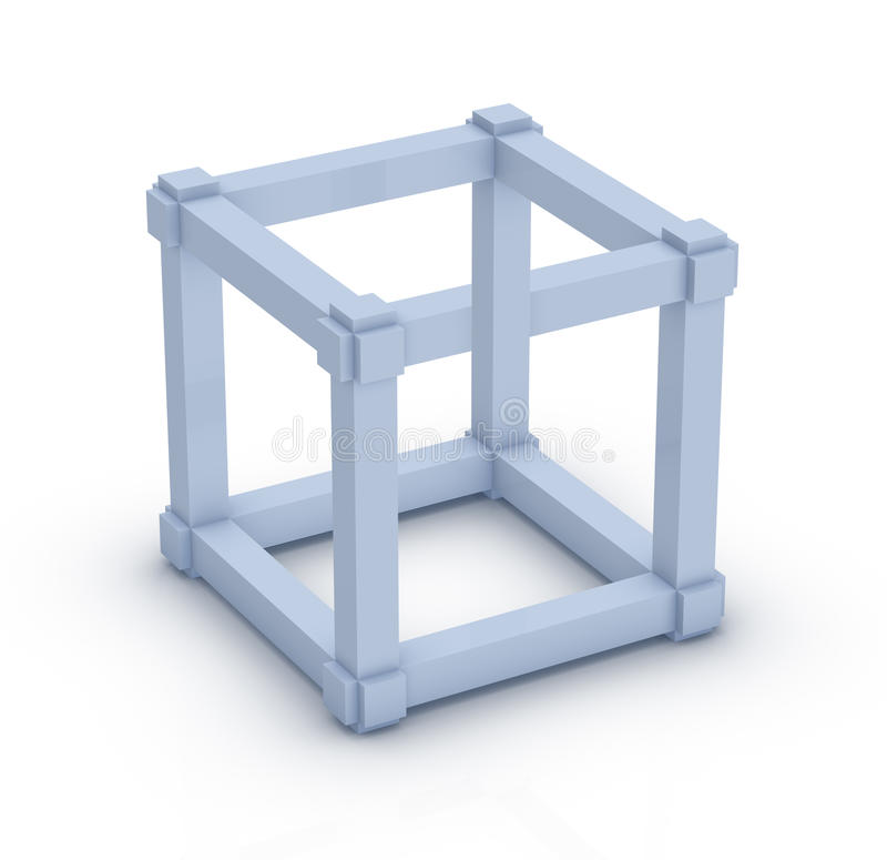 Cube en Escher illustration libre de droits