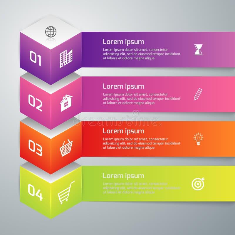 Cube en infographics 3d d'illustration de vecteur illustration libre de droits