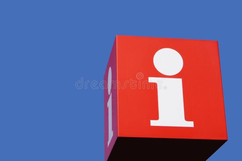Cube en information photographie stock