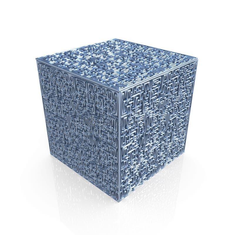 Cube en labyrinthe illustration libre de droits
