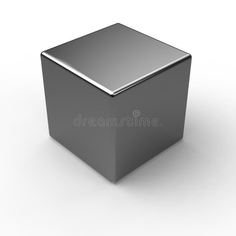 Cube en métal illustration stock