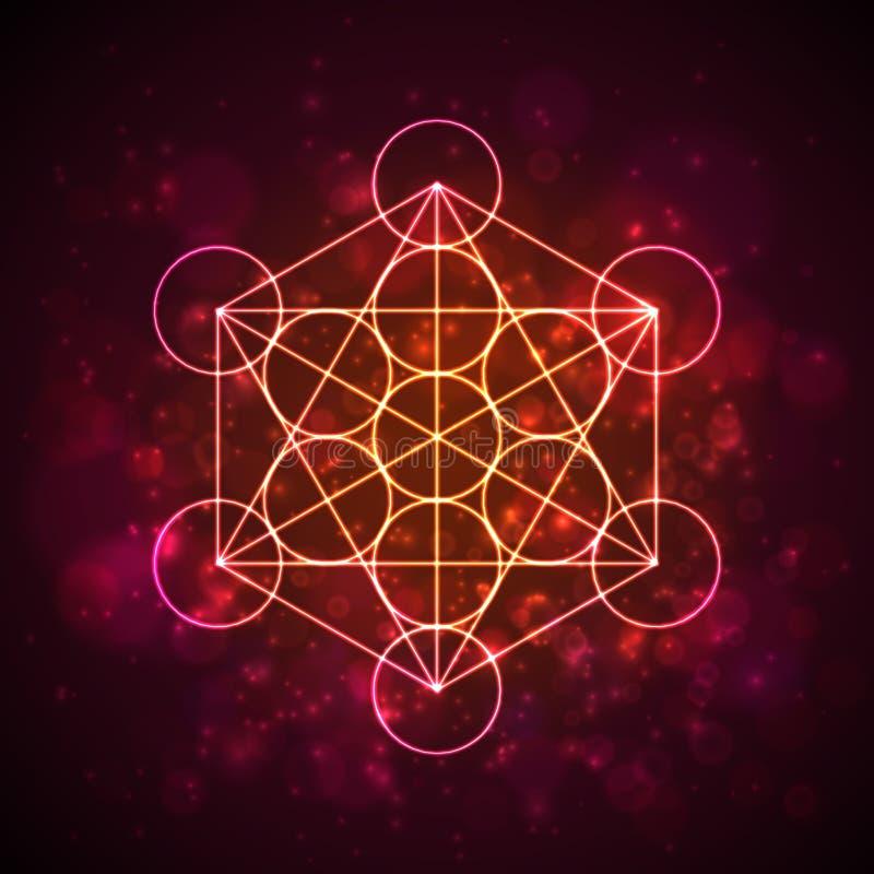 Cube en Metatrons - fleur de la vie Vecteur illustration libre de droits