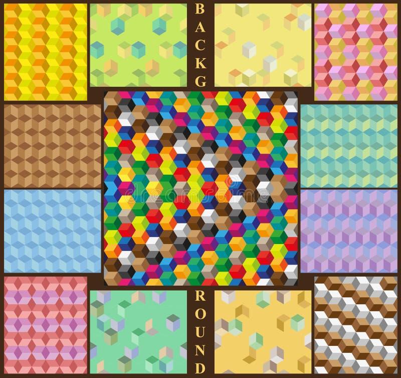Cube en milieux illustration stock