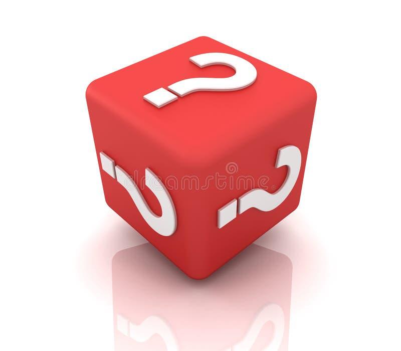 Cube en point d'interrogation illustration de vecteur