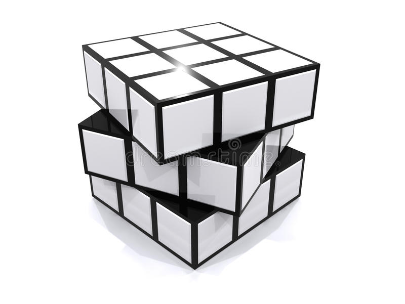 Cube en puzzle illustration de vecteur
