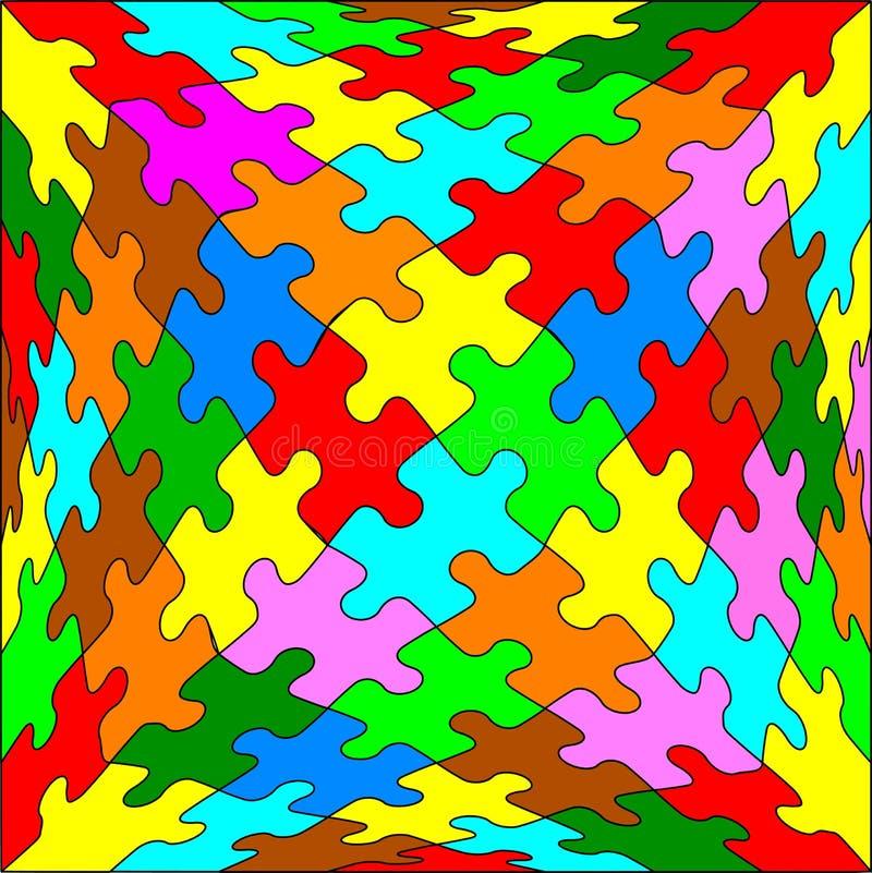 Cube en puzzle denteux illustration libre de droits