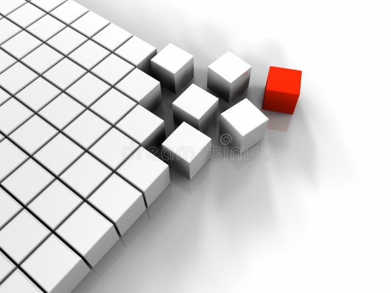 cube en rouge 3D illustration libre de droits