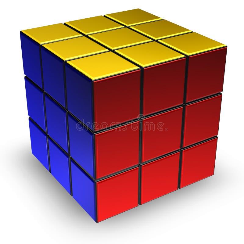 Cube en Rubik illustration libre de droits