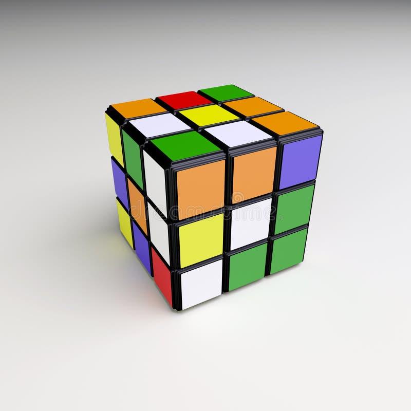 Cube en Rubik illustration stock