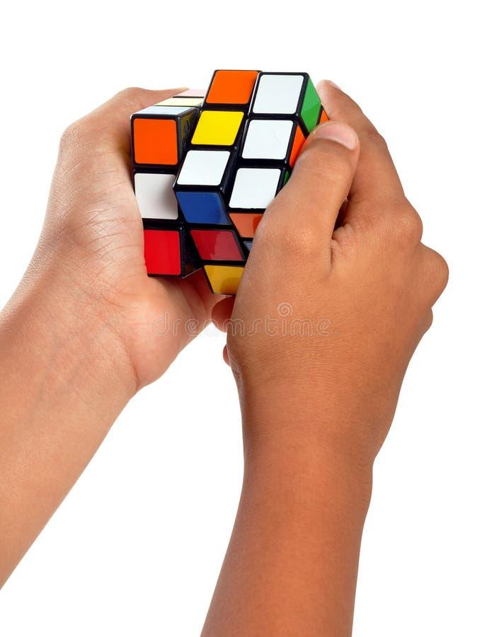 Cube en Rubiks photographie stock