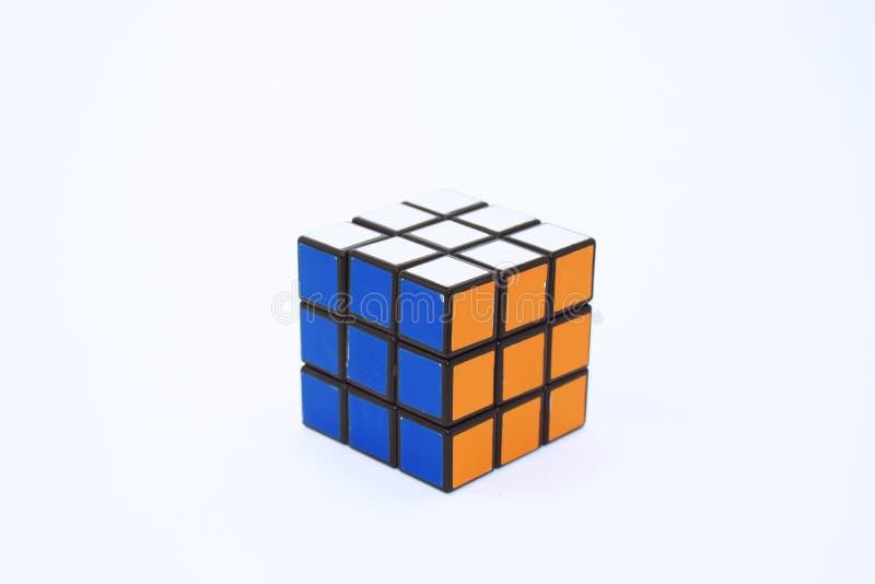 Cube en rubrique photos stock