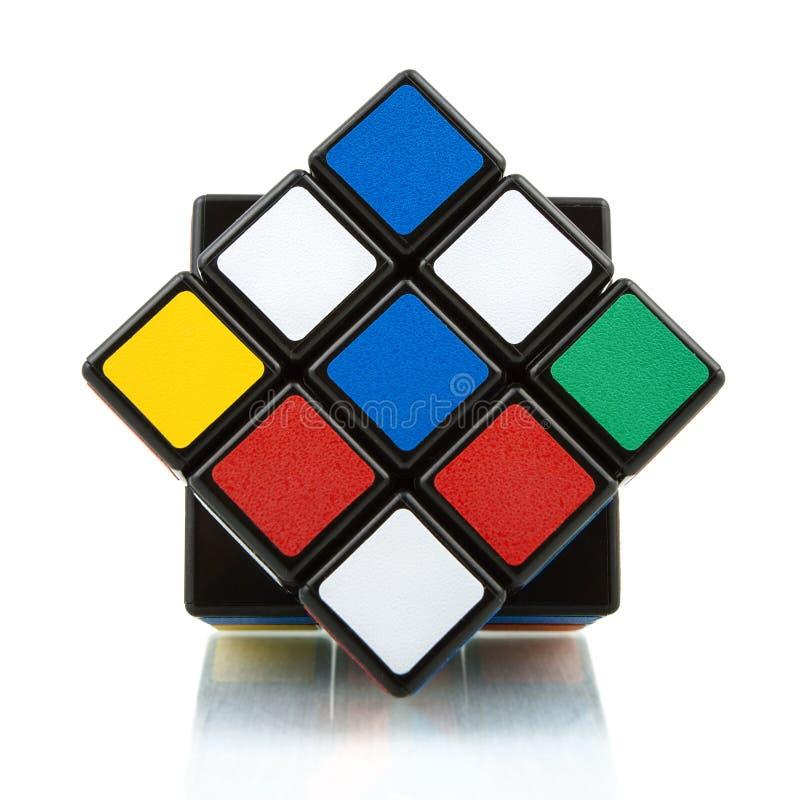 Cube en ` s de Rubik photographie stock libre de droits