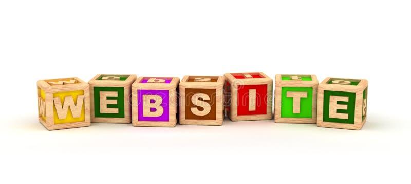 Cube en textes de site Web illustration stock