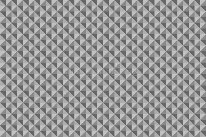 Cube en texture en métal établir le modèle sans couture abstrait illustration stock