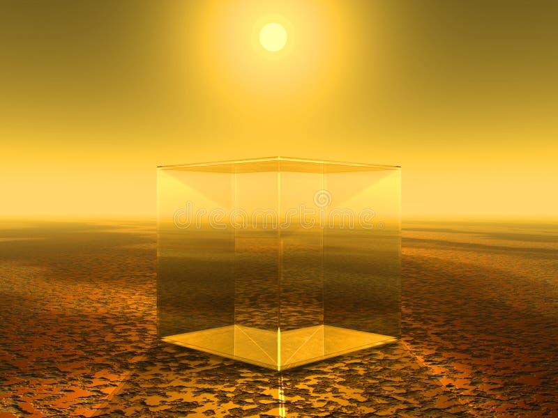 Cube en verre illustration de vecteur