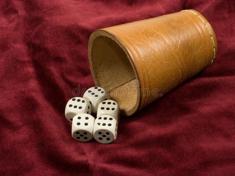 Cube - gambling games royalty free stock photos