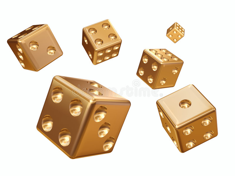 Cube for game royalty free stock photo