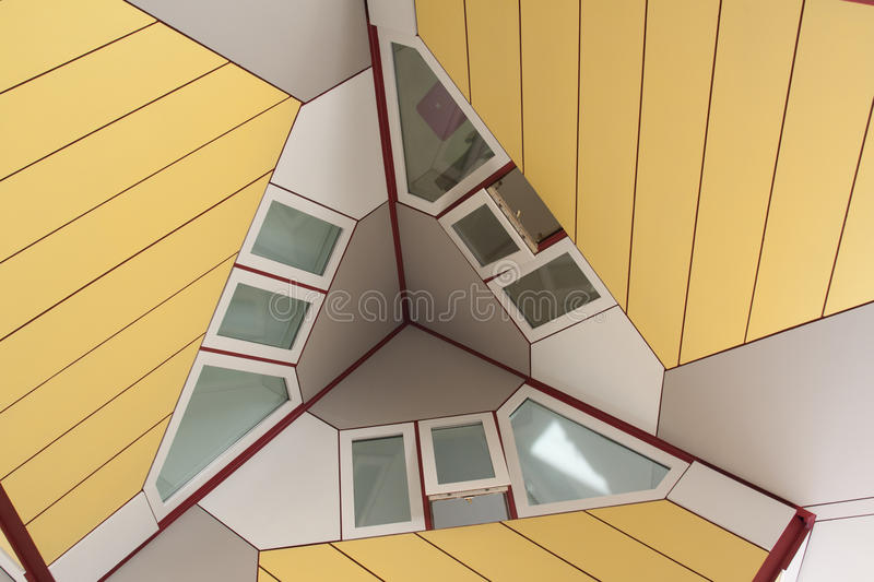 Cube house detail stock image