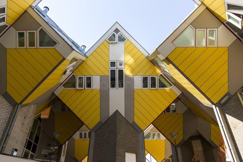 Cube house - the original landmark of Rotterdam royalty free stock photo