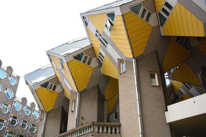 Cube House, Rotterdam, Netherlands - 11 Aug 2015 royalty free stock photo