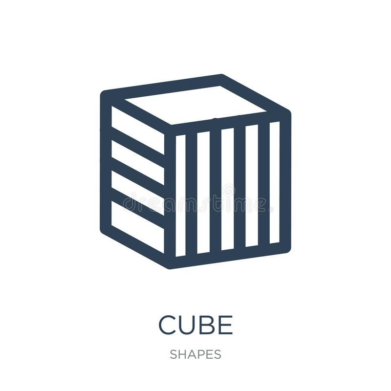 cube icon in trendy design style. cube icon isolated on white background. cube vector icon simple and modern flat symbol for web stock illustration