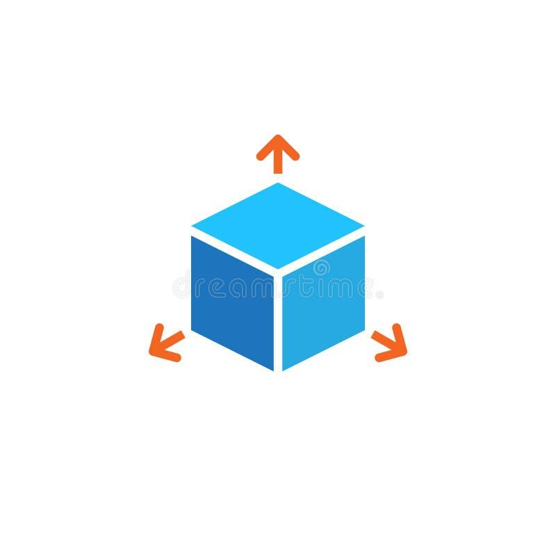 Cube icon vector, solid logo illustration, pictogram isolated on white. Cube icon vector, solid logo illustration, pictogram isolated on white stock illustration