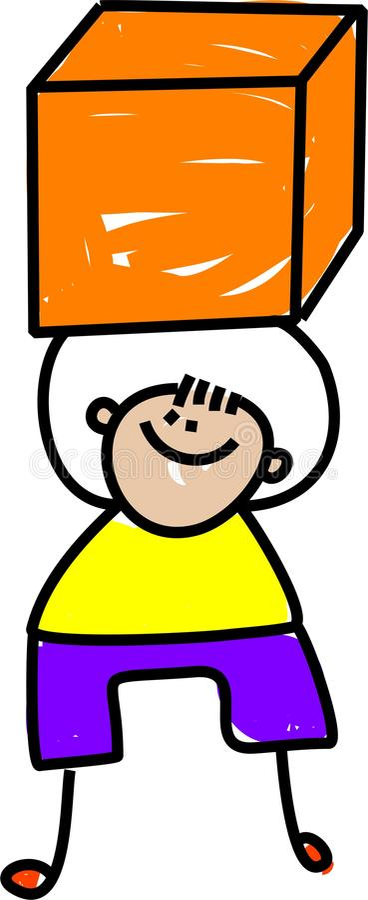 Cube Kid Stock Image
