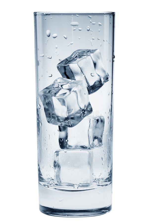 cube la glace en verre transparente image libre de droits