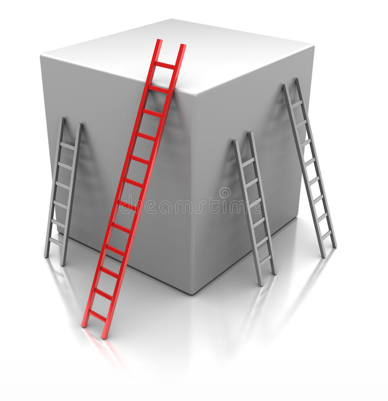 Cube With  Ladders Stock Photography
